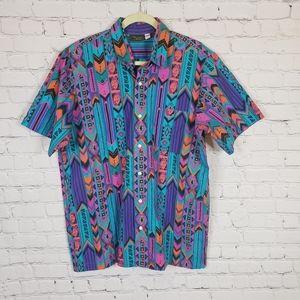 Aztec Vintage Alexander Martin button down t-shirt